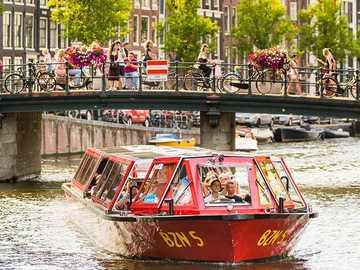 Croisière sur les canaux d'Amsterdam aux Pays-Bas - Croisière sur les canaux d'Amsterdam aux Pays-Bas