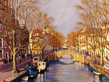 Amsterdam in autumn paintings - Amsterdam in autumn paintings