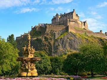 Edynburg - Zamek w Edynburgu, Szkocja.