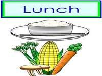 Ik ben voor lunch rijstgroenten - lmnopqrstuvwxyzlmnop
