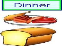 d is voor het avondeten vleesbrood - lmnopqrstuvwxyzlmnop