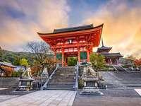 Kiyomizu-dera - Ett av de mest besökta templen i staden Kyoto.