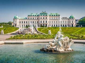 Wiedeń, Austria - Schloss Belvedere, Wiedeń