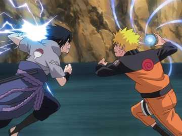 Naruto contre Sasuke - Naruto Vs Sasuke puzzle c'est mon premier