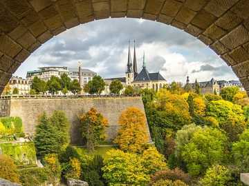 City panorama of Luxembourg - City panorama of Luxembourg