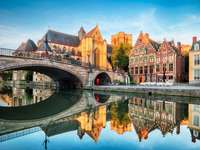 Panorama miasta Gandawa Belgia