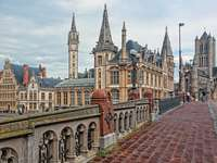 Ghent city panorama Belgium