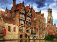 Miasto Brugia w Belgii