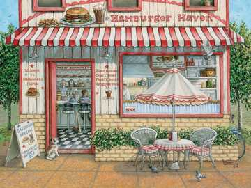 Hamburger Shop - Puzzle hamburger shop