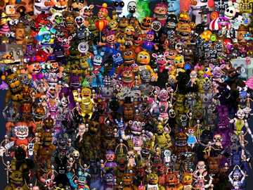 Fnaf Animatronics - Dies sind alles Animatroniker, die die fnaf-Welt von fnaf 1 bis 6 zählen