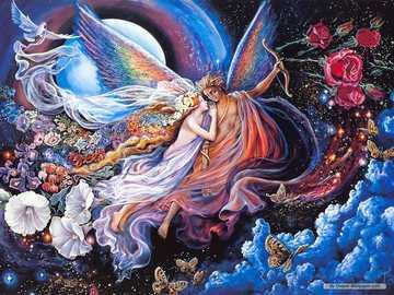 Josephine pittura murale - arte fiori fantasia amore