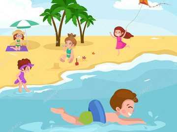 κολύμπι, διασκέδαση στην παραλία - Μ ..........................