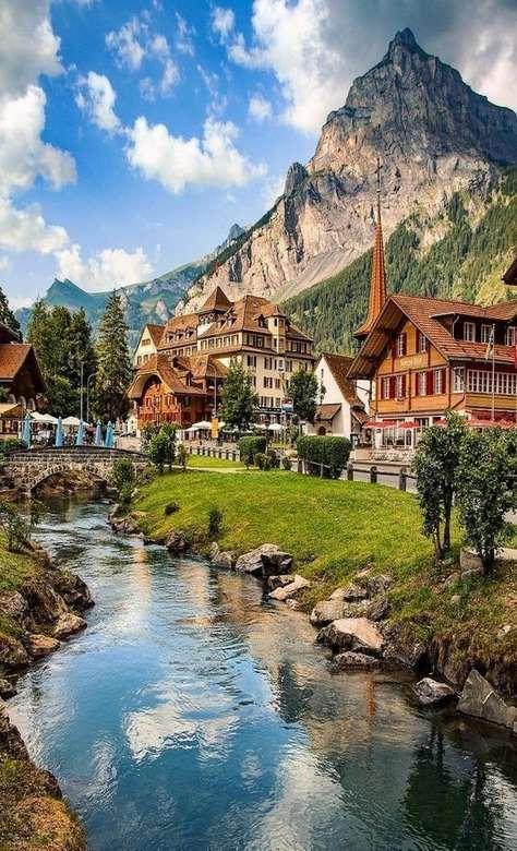 << az Alpokban >> - Táj puzzle (7×13)
