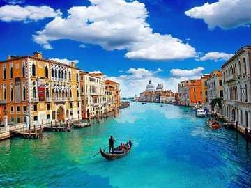 << V Benátkách >> - Krajina puzzle.
