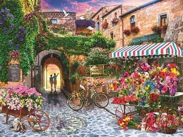 Painting. - Landscape puzzle.