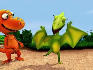 train de dinosaures - m ......................