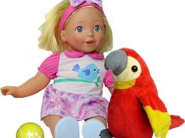 κούκλα με έναν παπαγάλο - Μ .........................