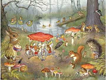 pomeriggio selvaggio - animali in festa divertente