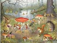 wilder Nachmittag - Tiere in lustiger Feier