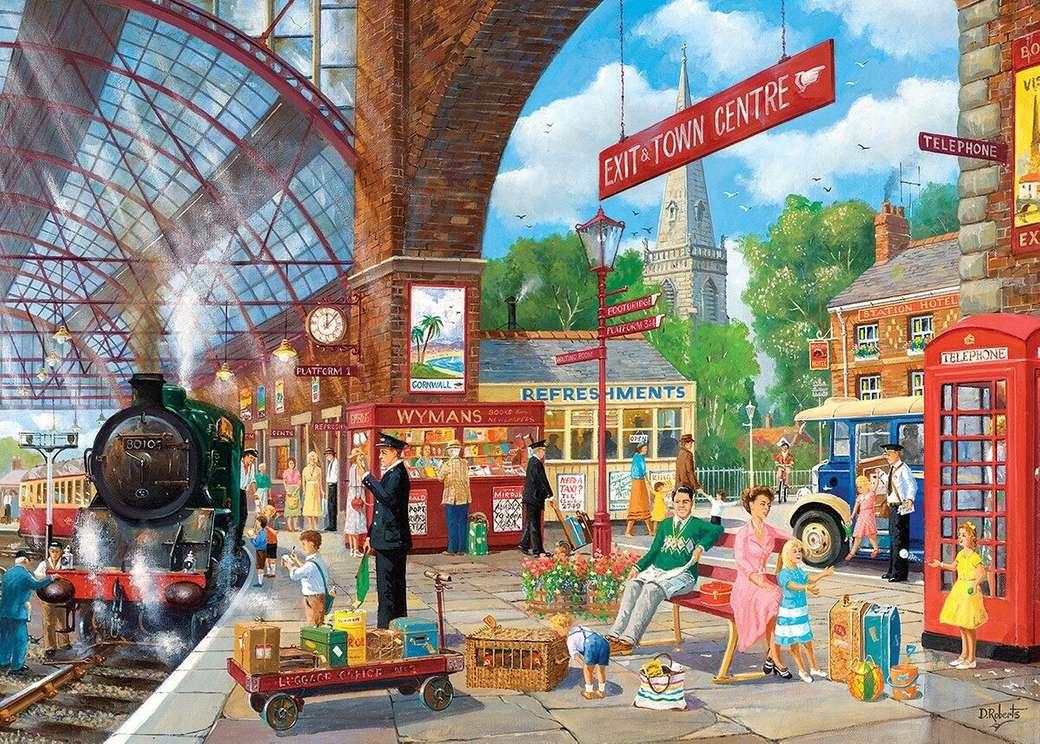 Bahnhof - Puzzle Village Bahnhof