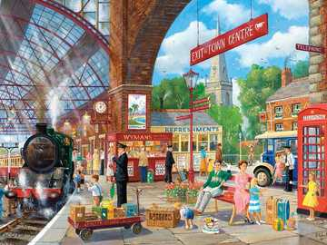 Train Station - Puzzle Village train station