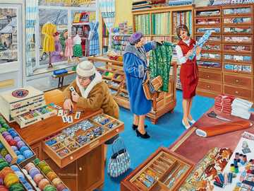 Sewing Shop - Puzzle. Sewing store