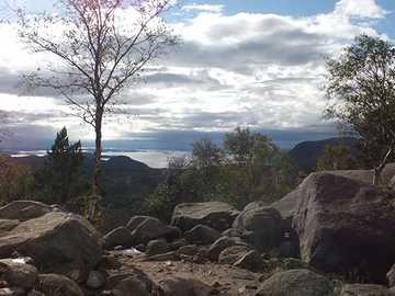 Norway Preikestolen - Norway, on the way to Pulpit Rock