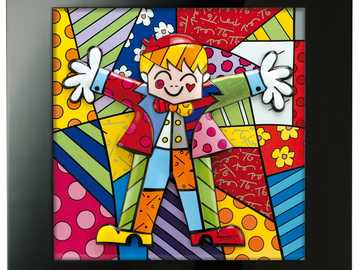 colorful hug - colorful artwork by Britto