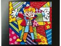abraço colorido - obras de arte coloridas de Britto