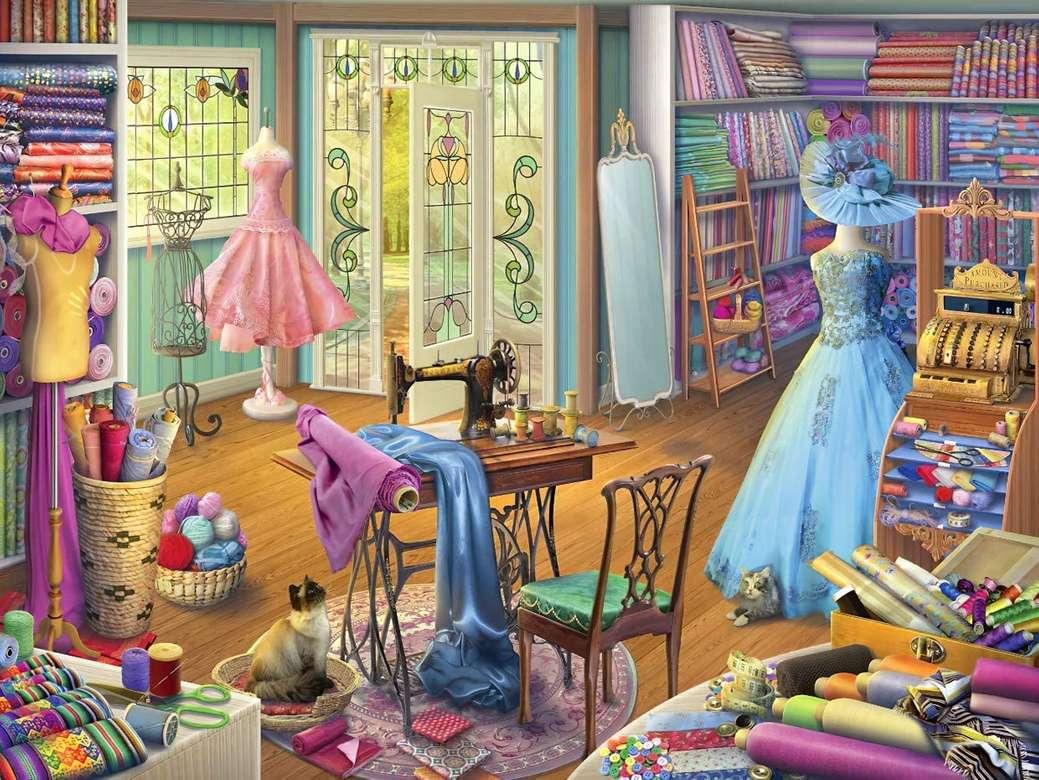 Atelier de couture - Puzzle. Magasin de couture (14×11)