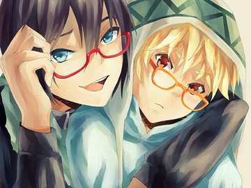bois and glasses - Yato and Yukine from Noragami