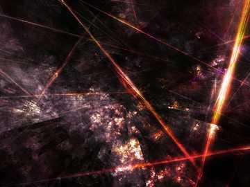 sembra un laser - raggi laser nel boschetto
