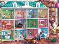 Domek dla lalek - Domek dla lalek w pokoju dziecięcym