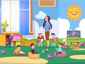 Im Kindergarten - Ein Tag im Kindergarten mit der Lehrerin