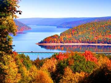 Autumn landscape in Pennsylvania USA - Autumn landscape in Pennsylvania USA