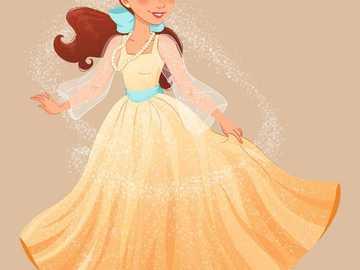 anastase anime - Anastasia złota sukienka anime