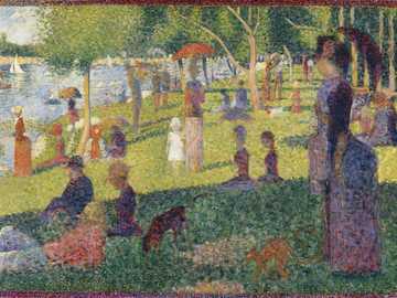 Georges Seurat - Reconstruit le célèbre tableau de l'artiste Georges Seurat.