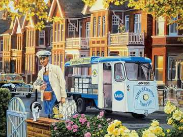 The Milkman - Puzzle. Delivering the milk