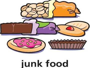 j ist für Junk Food - lmnop qrstuvwxyz lmnop