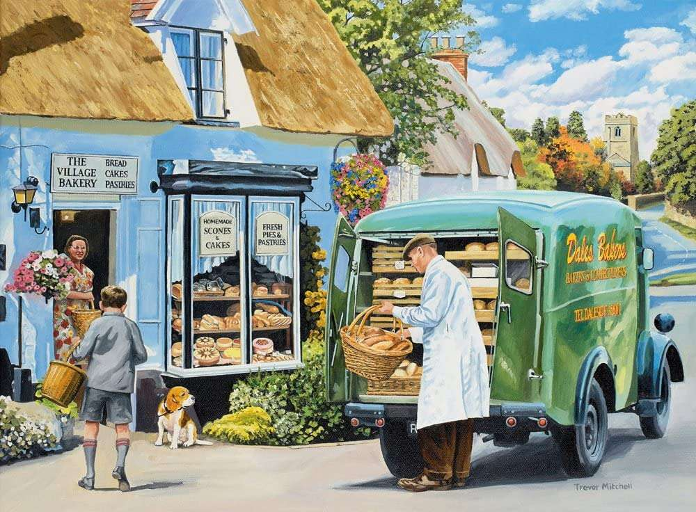 The Baker - Puzzle. Delivering the bread