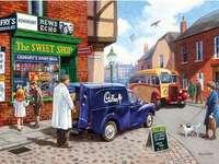 Sweet Shop - Puzzle. Village sweet store