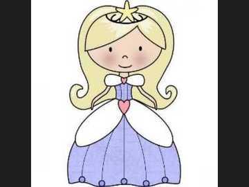 Prinzessin - Setze die Prinzessin in ein blaues Kleid
