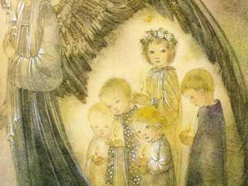 Peinture d'ange par Sulamith Wülfing - Peinture d'ange par Sulamith Wülfing