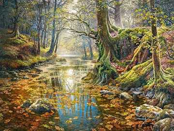 Painting. - Painting: autumn in the park.