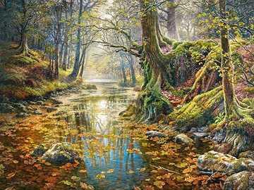 Malerei. - Malen: Herbst im Park.