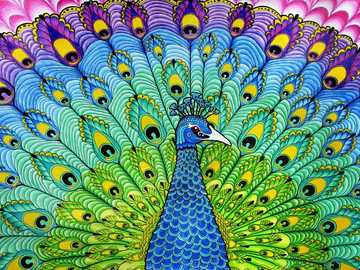Паун в дъгови цветове - Паун в дъгови цветове