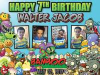 Bamboo's theme birthday Plants vs Zombies - At may 2,2017 Started Birthday