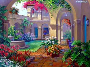 patio- flowers - m ......................