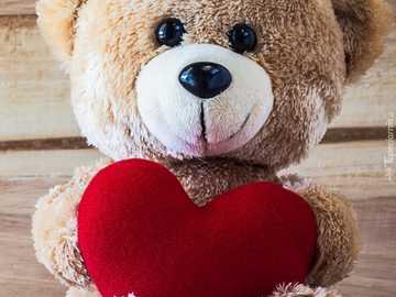 soft toy - teddy bear - m .......................