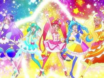 星光閃亮☆光之美少女(Star☆Twinkle Pretty Cure) - 光之美少女系列的第十六部作品,屬第十四代光之美少女。力量:宇宙。團�